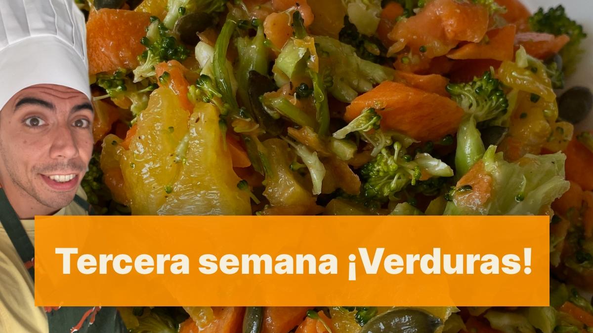 Tercera semana de dieta ya por fin reintroducimos las recetas con verduras.